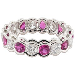 JAG New York Ruby and Diamond Eternity Band