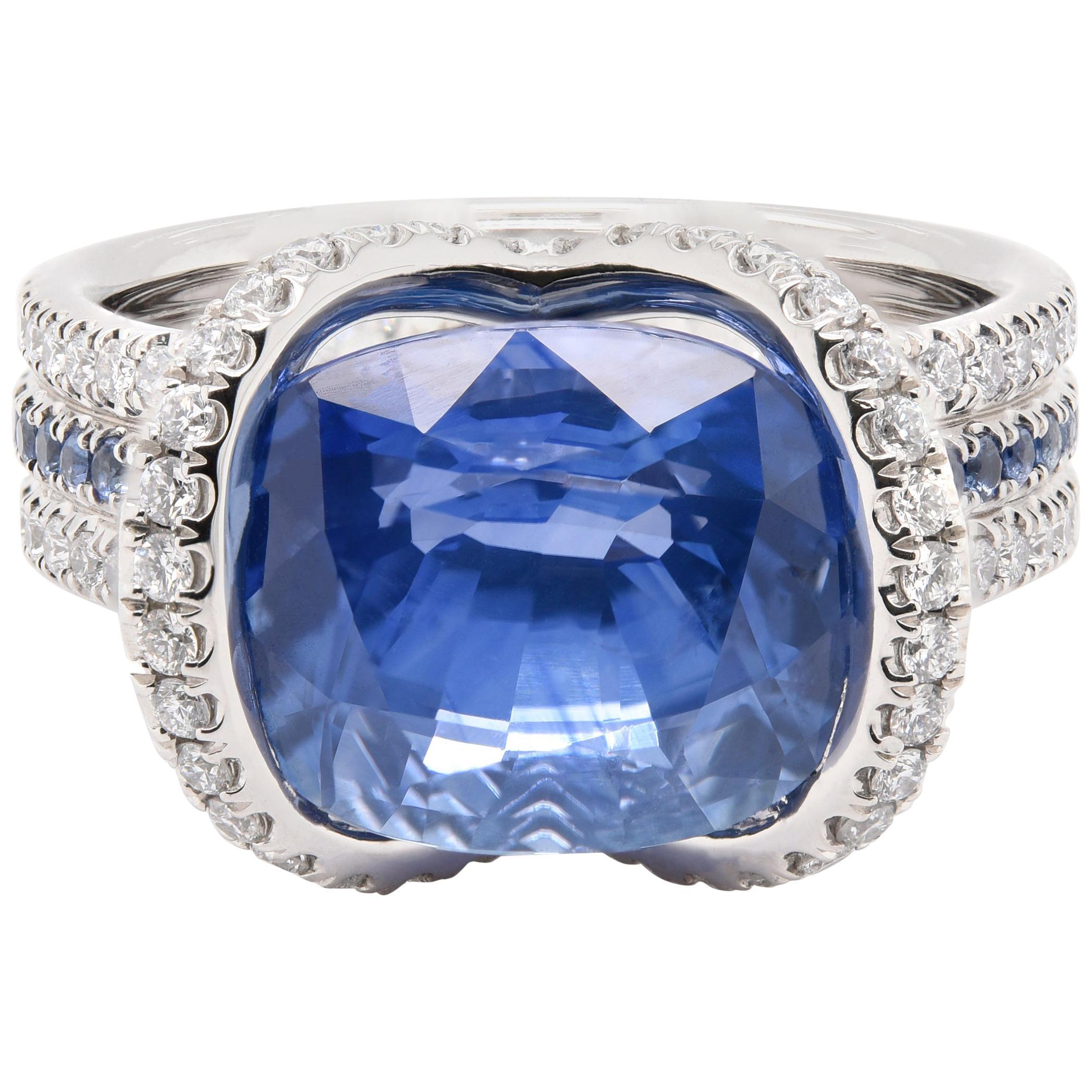 JAG New York Sapphire and Diamond Ring in Platinum
