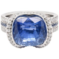 JAG New York Sapphire and Diamond Ring in Platinum