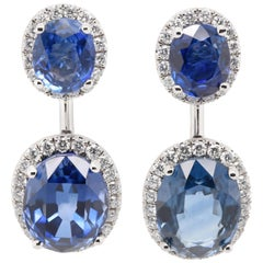 JAG New York Sapphires and Diamonds Drop Earrings