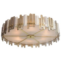 Jagged Drum Blown Ceiling Fixture