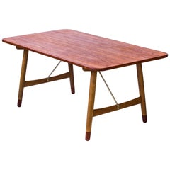 """Jagtbordet"" Desk or Dining Table by Børge Mogensen, Denmark, 1950s"
