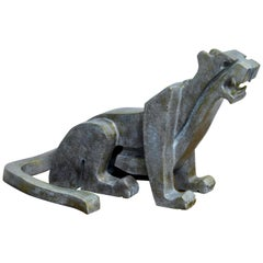 Jaguar Bronze Sculpture by Raul Navarro 2019