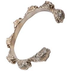 Jaguar Cuff Bangle Bracelet Sapphire Animal Bracelet J Dauphin