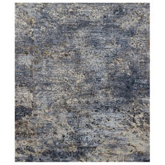 Persian wool and silk rug - Jahan Blue, Edition Bougainville