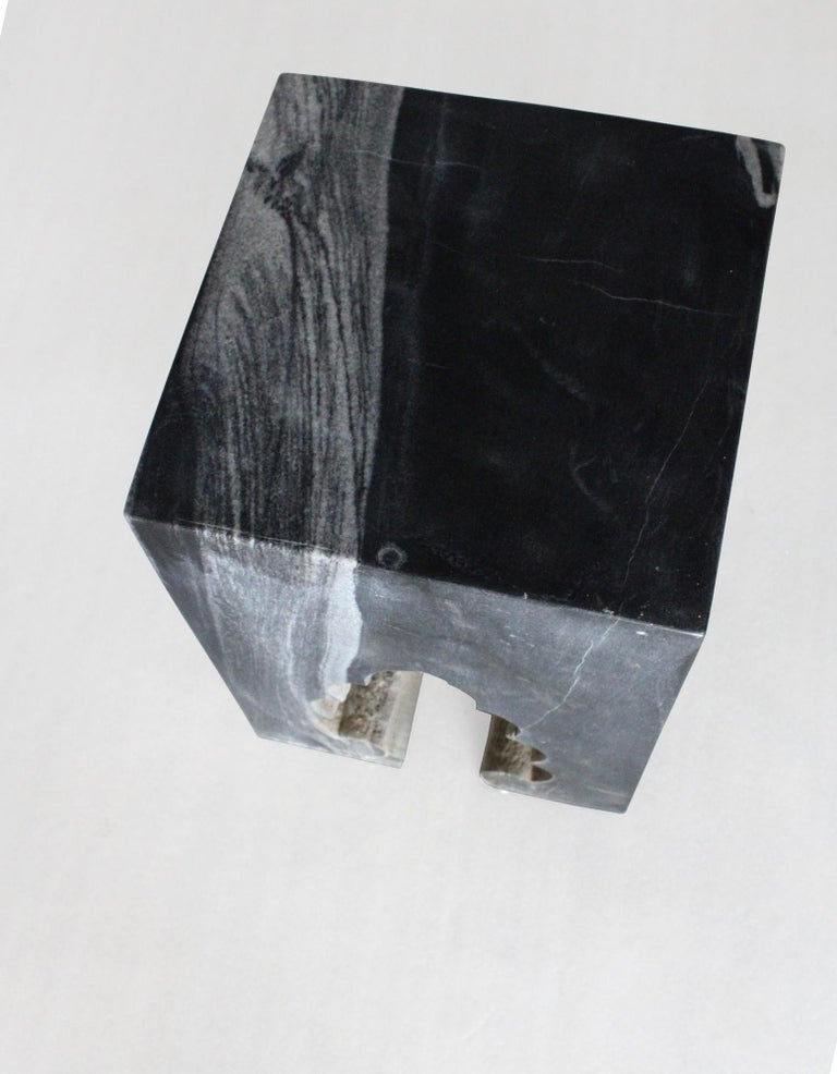 Contemporary Jahangir II Side Table in Black Marble by Paul Mathieu for Stephanie Odegard For Sale