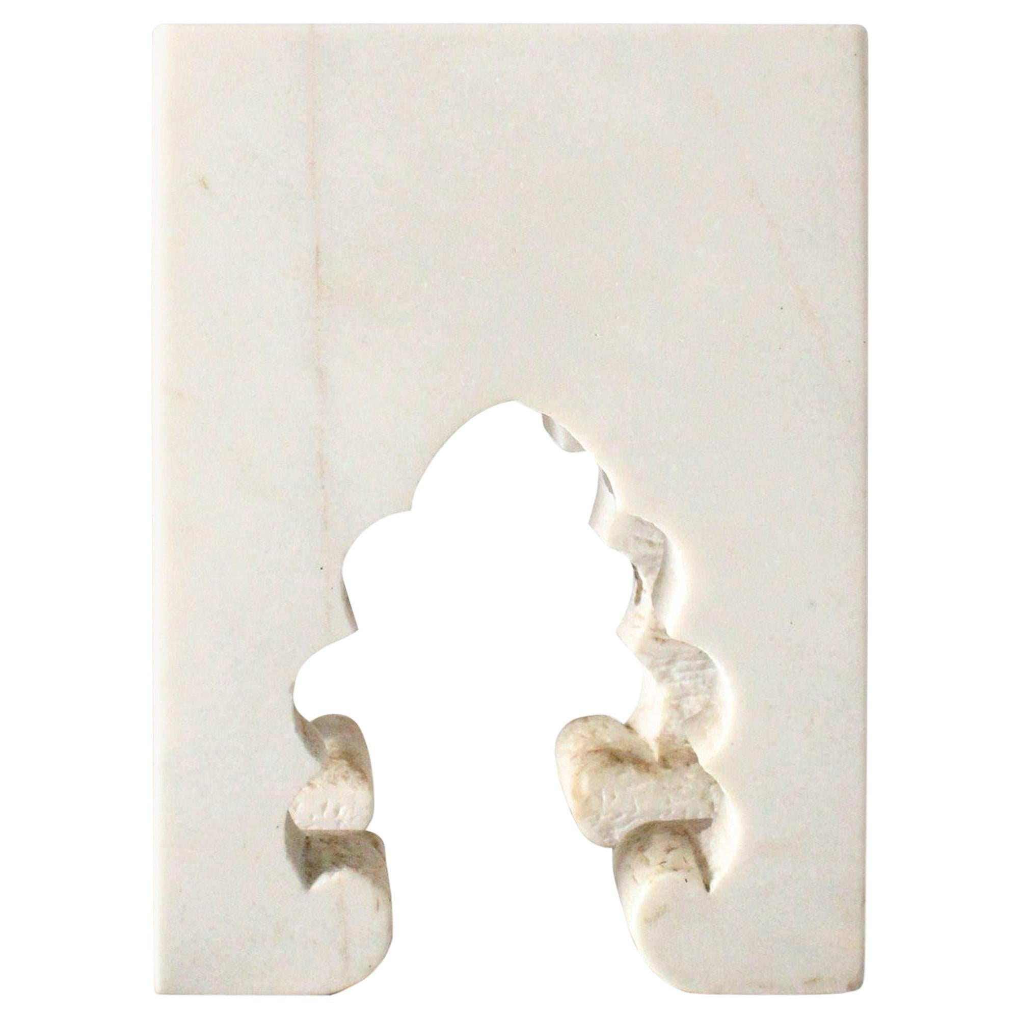 Jahangir II Side Table in White Marble by Paul Mathieu for Stephanie Odegard
