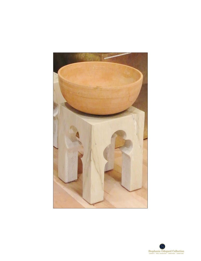 Contemporary Jahangir Side Table in Katni Marble by Paul Mathieu for Stephanie Odegard For Sale