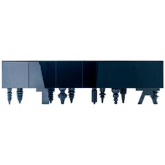 """Jaime Hayon Blue Multileg Cabinet """"Showtime"""" Marble / MDF / Wood by BD"""