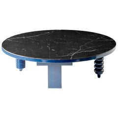 Jaime Hayon Blue Rounded Black Marble Multi-Leg Low Table by BD Barcelona
