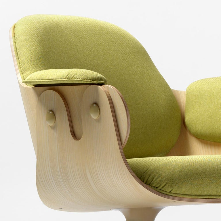 Modern Jaime Hayon, Contemporary, Ash, Pistachio Upholstery Low Lounger Armchair For Sale