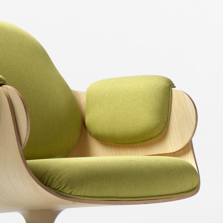 Spanish Jaime Hayon, Contemporary, Ash, Pistachio Upholstery Low Lounger Armchair For Sale
