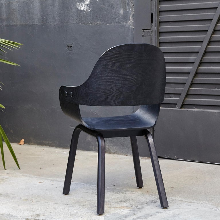 Spanish Jaime Hayon, Contemporary, Black Wood Chair Showtime Nude by BD Barcelona For Sale