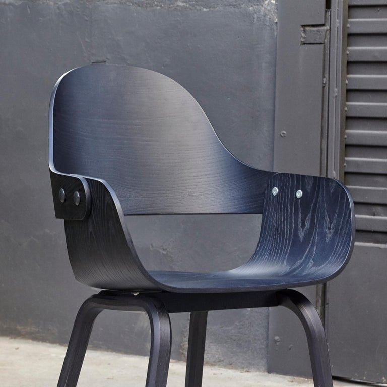 Jaime Hayon, Contemporary, Black Wood Chair Showtime Nude by BD Barcelona For Sale 1