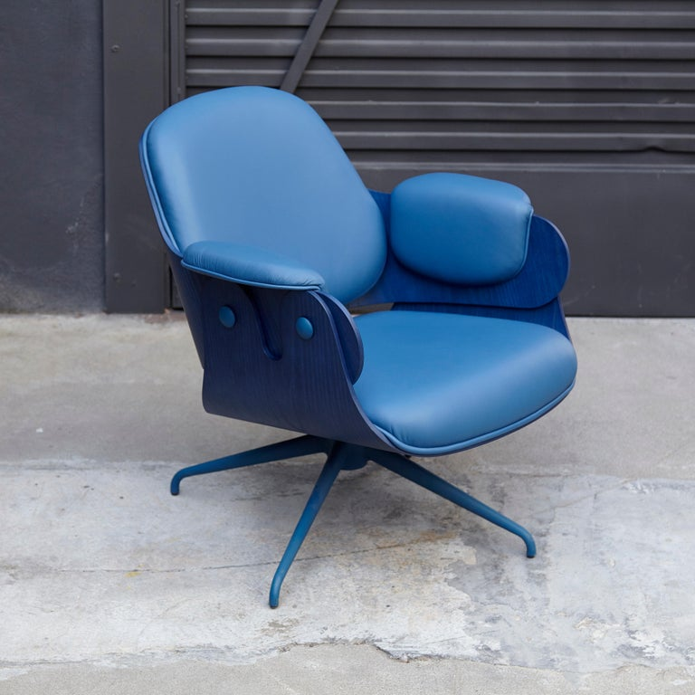Modern Jaime Hayon, Contemporary, Blue Low Lounger Armchair For Sale