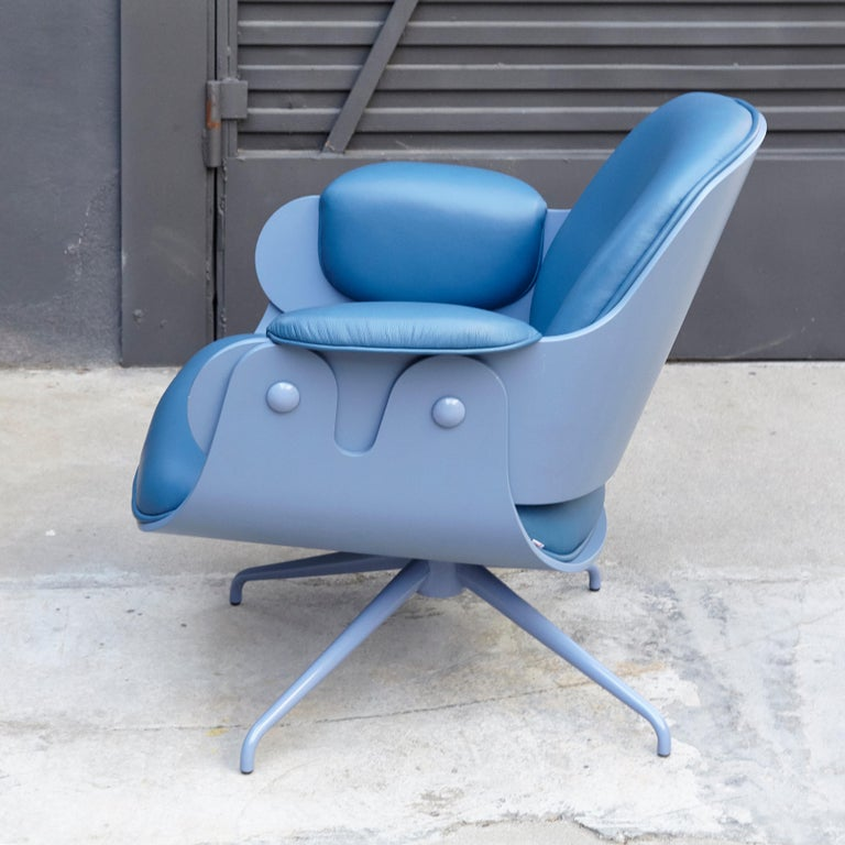 Jaime Hayon, Contemporary, Blue Low Lounger Armchair In Good Condition For Sale In Barcelona, Barcelona