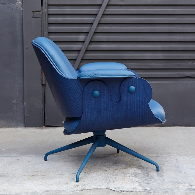 Upholstery Jaime Hayon, Contemporary, Blue Low Lounger Armchair For Sale