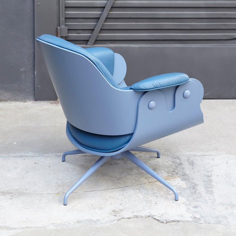 Aluminum Jaime Hayon, Contemporary, Blue Low Lounger Armchair For Sale