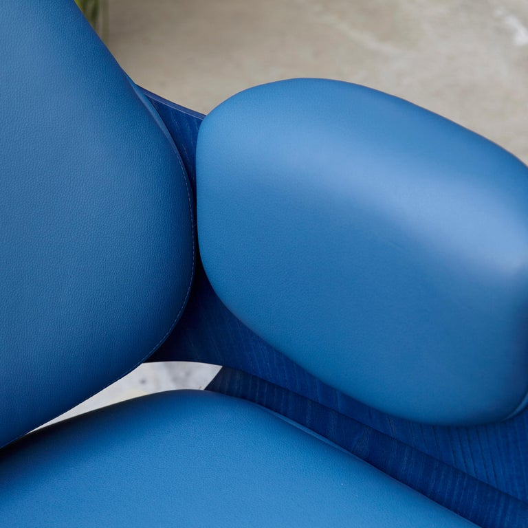 Jaime Hayon, Contemporary, Blue Low Lounger Armchair For Sale 3