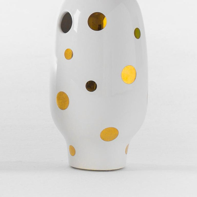 Modern Jaime Hayon Contemporary Glazed Stoneware 'Showtime 10' Vase Number 2 For Sale