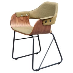 Jaime Hayon Contemporary Green Upholstered Wood Chair Showtime by BD Barcelona