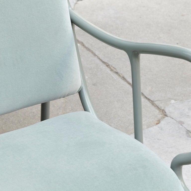 Spanish Jaime Hayon Contemporary Green Velvet Sculptural 'Gardenias' Indor Bench for BD For Sale