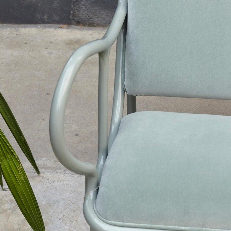 Jaime Hayon Contemporary Green Velvet Sculptural 'Gardenias' Indor Bench for BD In Good Condition For Sale In Barcelona, Barcelona