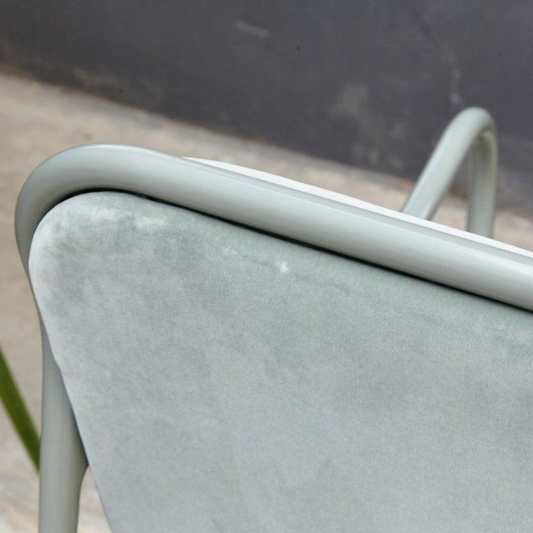 Jaime Hayon Contemporary Green Velvet Sculptural 'Gardenias' Indor Bench for BD For Sale 2