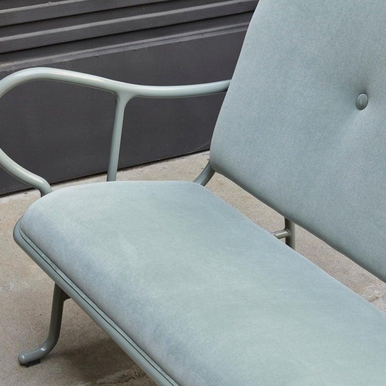 Jaime Hayon Contemporary Green Velvet Sculptural 'Gardenias' Indor Bench for BD For Sale 3