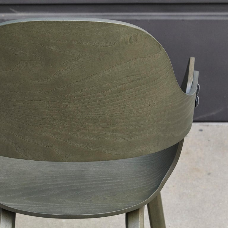 Jaime Hayon, Contemporary, Green Wood Chair Showtime Nude by BD Barcelona For Sale 7