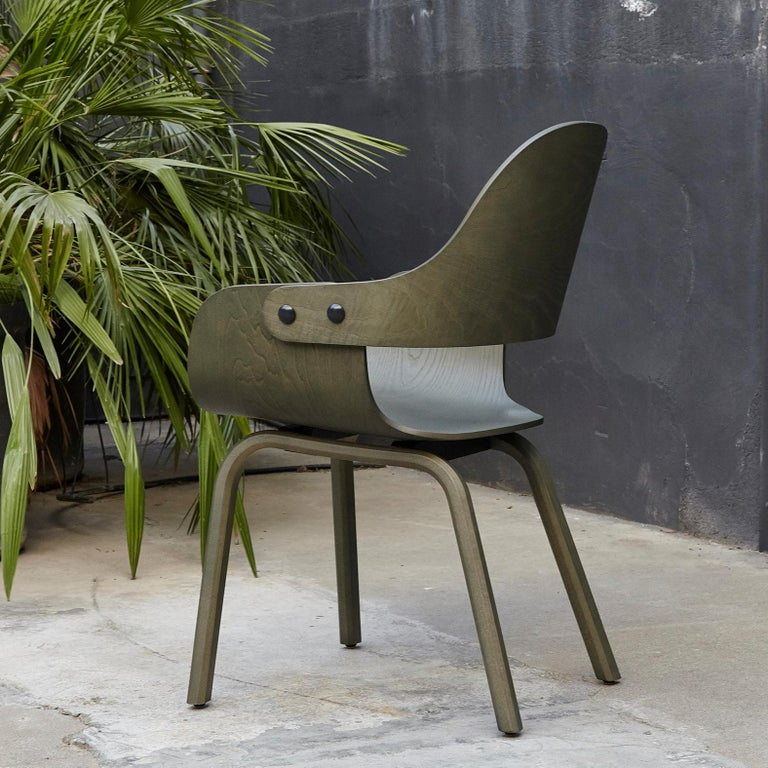 Modern Jaime Hayon, Contemporary, Green Wood Chair Showtime Nude by BD Barcelona For Sale
