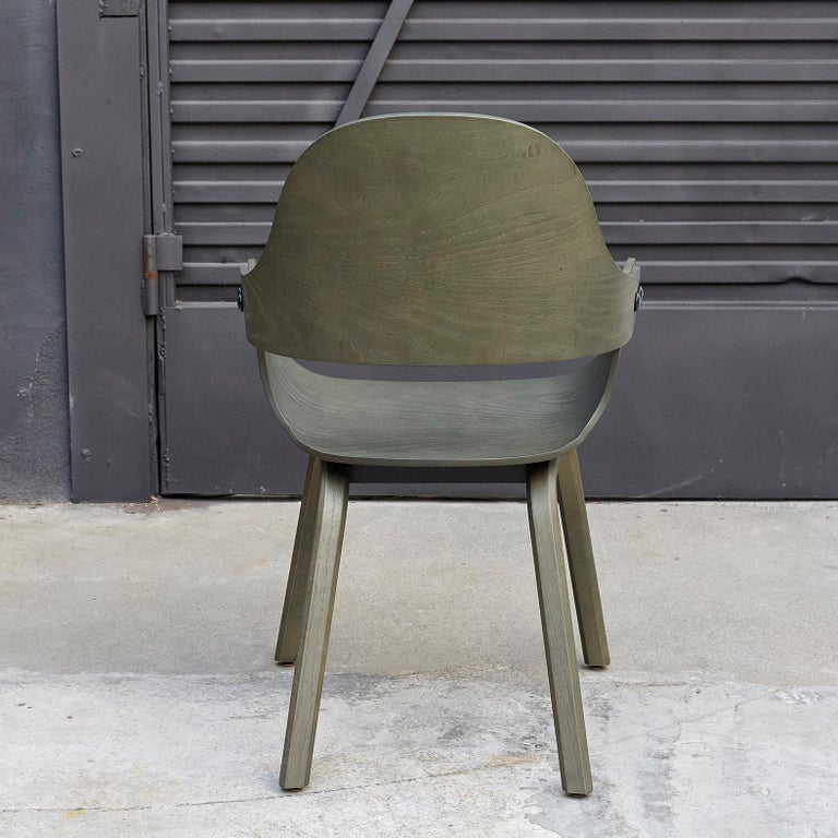 Spanish Jaime Hayon, Contemporary, Green Wood Chair Showtime Nude by BD Barcelona For Sale