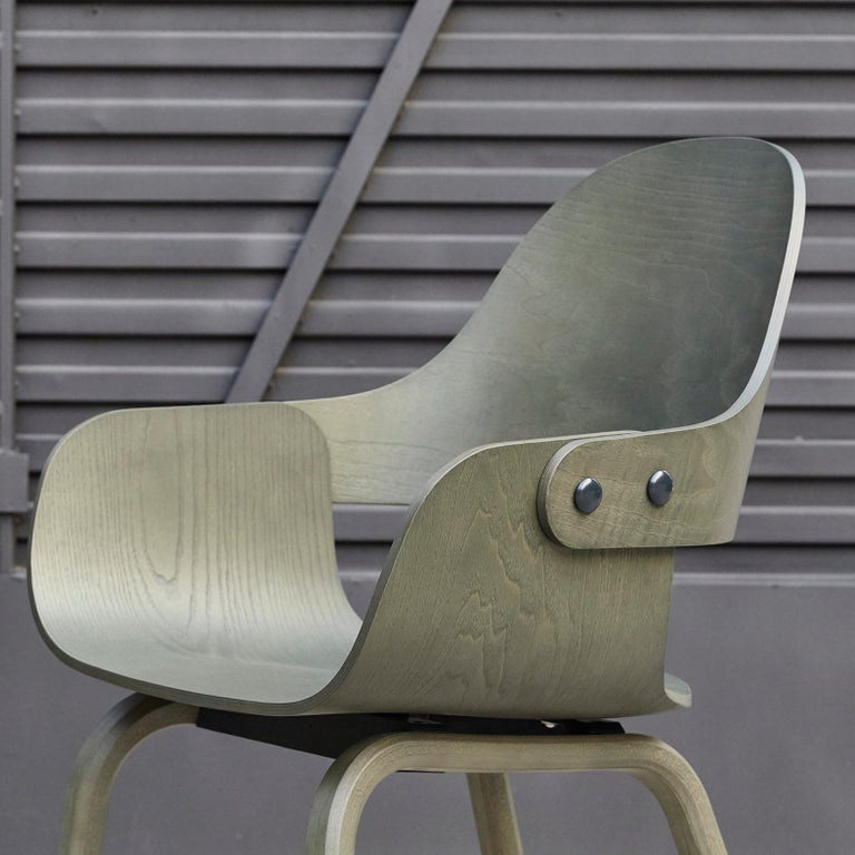 Jaime Hayon, Contemporary, Green Wood Chair Showtime Nude by BD Barcelona In New Condition For Sale In Barcelona, Barcelona