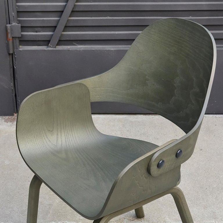 Jaime Hayon, Contemporary, Green Wood Chair Showtime Nude by BD Barcelona For Sale 1