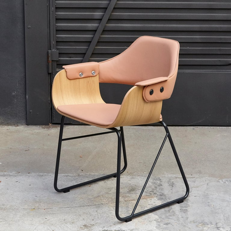 Jaime Hayon Contemporary Leather Upholstered Wood Chair Showtime by BD Barcelona For Sale 2