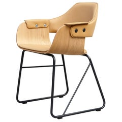 Jaime Hayon Contemporary Leather Upholstered Wood Chair Showtime by BD Barcelona