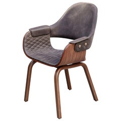 Jaime Hayon, Contemporary, Leather Upholstered, Wood Chair Showtime Nude