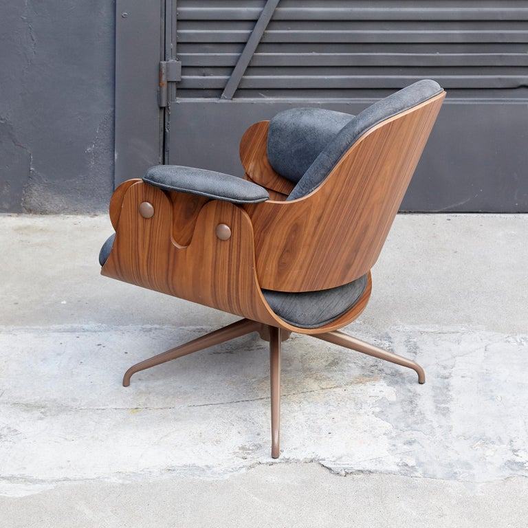Jaime Hayon, Contemporary, Leather Upholstery Low Armchair For Sale 1