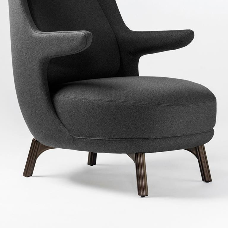 Modern Jaime Hayon, Contemporary Monocolour Grey Upholstery Dino Armchair For Sale