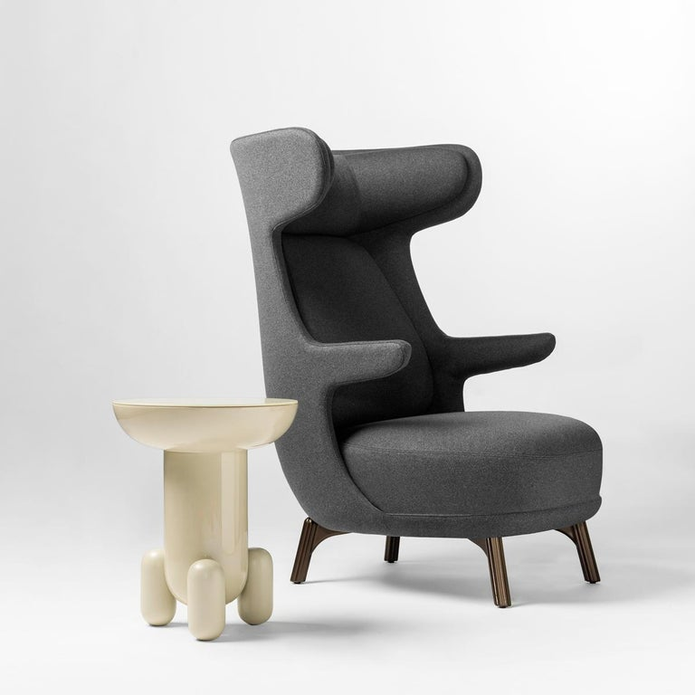 Jaime Hayon, Contemporary Monocolour Grey Upholstery Dino Armchair In New Condition For Sale In Barcelona, Barcelona