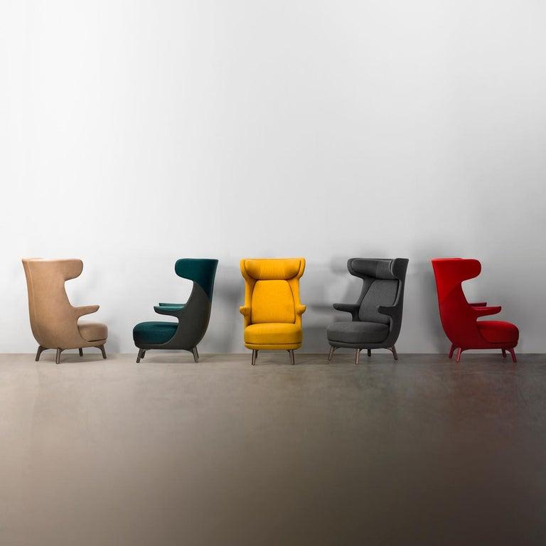 Jaime Hayon, Contemporary Monocolour Grey Upholstery Dino Armchair For Sale 1