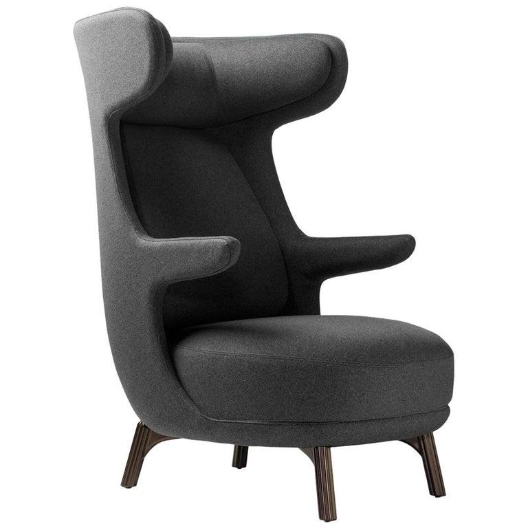 Jaime Hayon, Contemporary Monocolour Grey Upholstery Dino Armchair For Sale