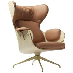 Jaime Hayon Contemporary Plywood Leather Lounger Armchair for BD