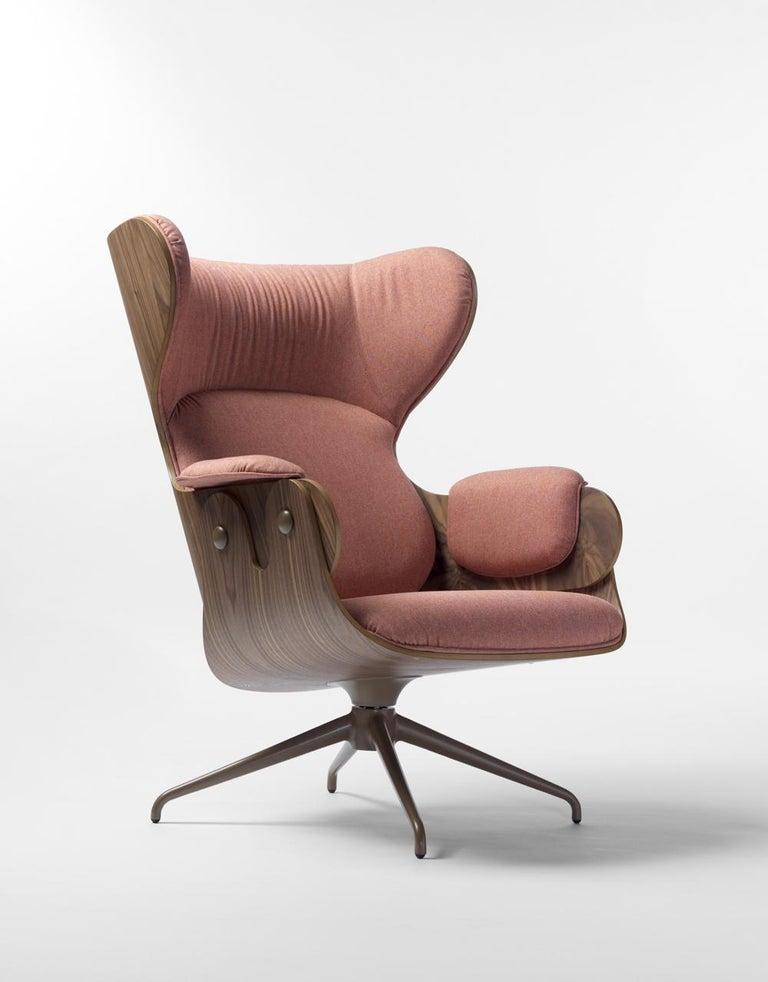 Jaime Hayon Contemporary Plywood Upholstery Lounger Armchair for BD In New Condition For Sale In Barcelona, Barcelona