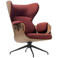 Jaime Hayon Contemporary Plywood Upholstery Lounger Armchair for BD