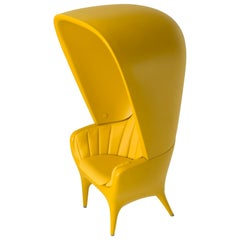 Jaime Hayon Contemporary Showtime Armchair Lacquered Yellow Poltrona