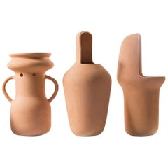 Jaime Hayon Contemporary Terracotta Set of Gardenias Big Vases