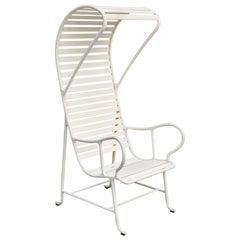 Jaime Hayon Contemporary White Gardenias Outdoor Armchair with Pergola