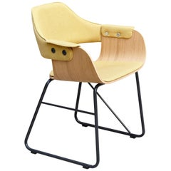 Jaime Hayon Contemporary Yellow Upholstered Wood Chair Showtime by BD Barcelona