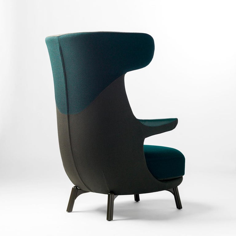 Dino Armchair designed by Jaime Hayonmonufactured by BD  Main body made of rigid polyurethane covered with polyether foam cushioning. A fixed head rest, seat cushion and backrest in polyether foam cushioning. Cushion covers are removable.   Cast